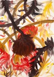 """""""I'll Dry Them All"""", acquerello su carta (watercolor on paper), 3/11/2017, cm 100x70"""