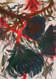 """Patch It Up"", acquerello su carta (watercolor on paper), 4/11/2017, cm 100x70"