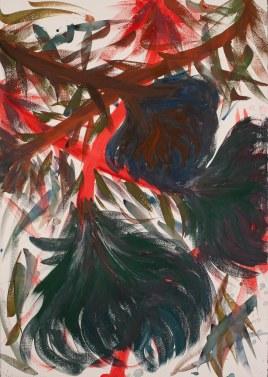 acquerello su carta Fabriano 210 gr 50% cotone (watercolor on Fabriano paper 210 gr 50% cotton), 4/11/2017, cm 100x70