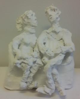 2019, terracotta dipinta a freddo (cold painted terracotta), cm 23x20x20