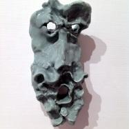 """Echo"", ceramica smaltata (glazed ceramic), maschera/mask, 2018, cm 13,5x6x3"