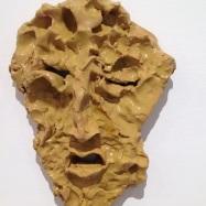 """Medardo Rosso"", ceramica smaltata (glazed ceramic), maschera/mask, 2018, cm 25x18,5x6"