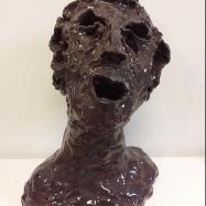 """""""Davide"""" (David), ceramica smaltata (glazed ceramic), 2018, cm 33x25x21"""