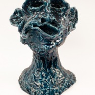 """S.T."" (Untitled), ceramica a cristallina (crystalline ceramic), 2018, cm 29x24x21,5"