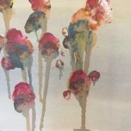 acrilico su carta (acrylic on paper), 2019, cm 30x40