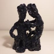 """Discreti"" (Discrete), ceramica smaltata (glazed ceramic), 2018, cm 29x21x14"