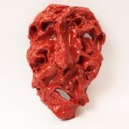 """""""Cacciatore"""" (Hunter), ceramica smaltata (glazed ceramic), 2018, cm 24x16x8"""