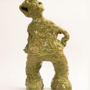"""""""Inquilino"""" (Tenant), ceramica smaltata (glazed ceramic), 2018, cm 50x24x15"""