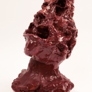 """""""Gwynplaine, L'Uomo che ride"""" (The Man Who Laughs) / A (To) Victor Hugo"""", ceramica smaltata (glazed ceramic), 2018, cm 32x26x19"""