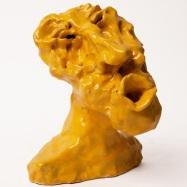 """Zefiro"" (Zephyr), ceramica smaltata (glazed ceramic), 2018, cm 15x12x11"
