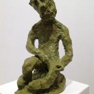 """Anchise"" (Anchises), ceramica smaltata (glazed ceramic), 2018, cm 35x17x21"