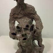 """Genesi"" (Genesis), ceramica smaltata (glazed ceramic), 2018, cm 34x18x16"