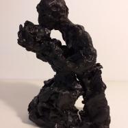 """Baci"" (Kisses), terracotta dipinta ad acrilico (acrylic painted terracotta), 2018, 28x18x12"