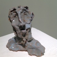 """""""Poeta"""" (Poet), ceramica smaltata (glazed ceramic), 2018, cm 11x11x4,5"""