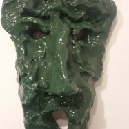 """Visione"" (Vision), ceramica smaltata (glazed ceramic), 2018, cm 24x15x8"