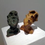 """Esperti"" (Experts), ceramica smaltata (glazed ceramic), 2018, cm 11,5x7,5x5 / 11x9x10"