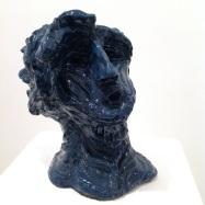 """""""Giano bifronte"""" (Janus Bifrons), ceramica smaltata (glazed ceramic), 2018, cm 31,5x25x21,5"""