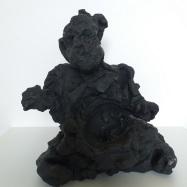 """Profeta"" (Prophet), terracotta dipinta (painted terracotta), 2020, cm 33x28x18"