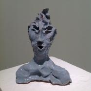 """""""Ronin"""", ceramica smaltata (glazed ceramic), 2018, cm 16x12,5x6"""