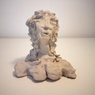 """Amadeus"", terracotta, 2019, cm 15x14x9"