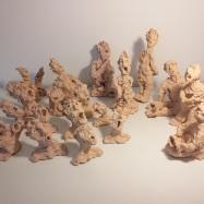"""Skinny Tribe"", terracotta, 2018"
