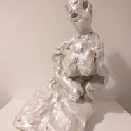 """Tacita Muta"", 2020, terracotta, cm 49,5x26x32"