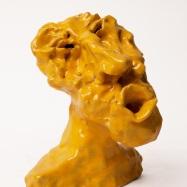 """Zefiro"" (Zephyr), ceramica smaltata (glazed ceramic), 2018, Ceramic, 2018, cm 15x12x11"