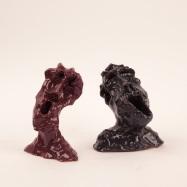 """""""Sorpresa"""" (Surprise), ceramica smaltata (glazed ceramic), 2018, cm 12x10x3 / 13x11x10"""